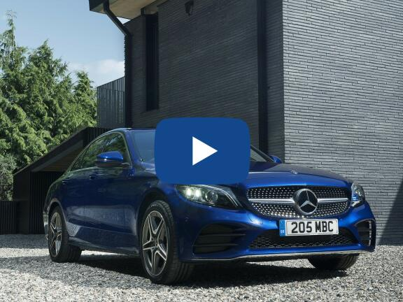 Video Review: MERCEDES-BENZ C CLASS SALOON SPECIAL EDITIONS C200 AMG Line Night Ed Premium Plus 4dr 9G-Tronic