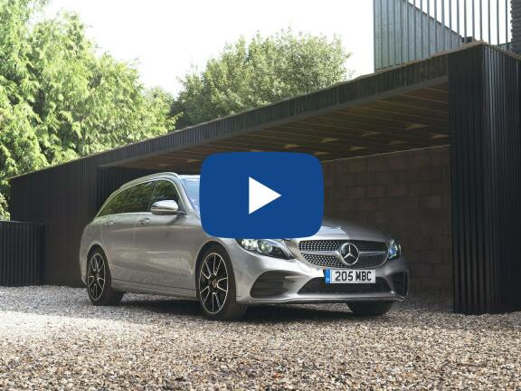 Video Review: MERCEDES-BENZ C CLASS ESTATE SPECIAL EDITIONS C300d 4Matic AMG Line Night Ed Prem+ 5dr 9G-Tronic