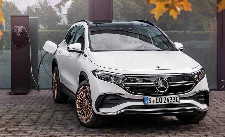 The Mercedes EQA compact SUV takes a bow